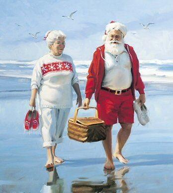 Santa and mrs on beach.jpg
