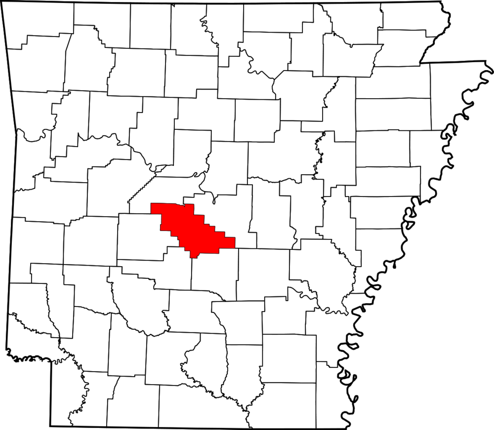 Arkansas map highlighting Saline County.png